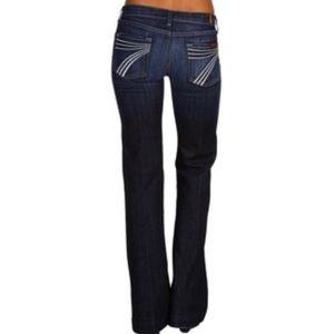 7 For All Mankind DOJO Jeans White Stitching EUC!